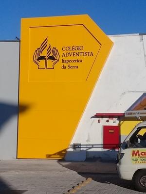 Fachada Acm Amarelo Aeroporto - Fachada Revestida Acm