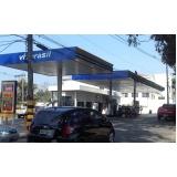 cobertura em alumínio para posto de gasolina