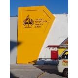fachada acm amarelo Pedreira