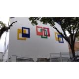 fachada de acm adesivada Caieiras