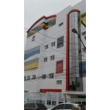 fachada de loja com acm Vila Andrade