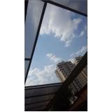 toldo em policarbonato azul Ribeirão Pires
